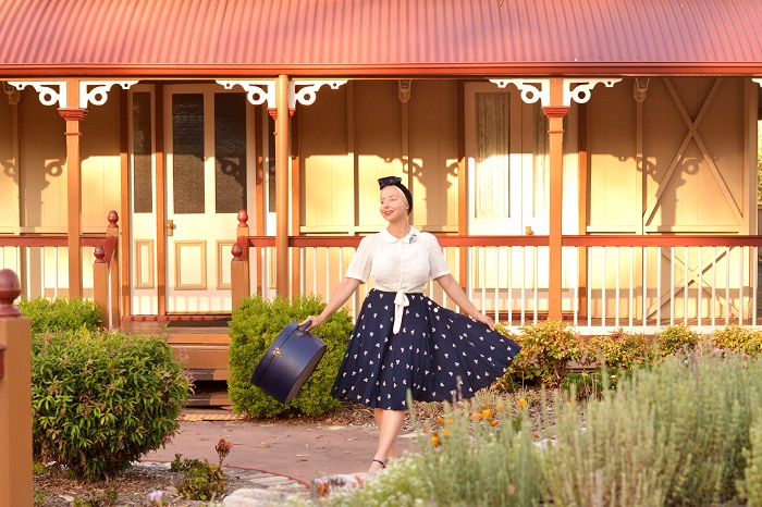 be0f3078e909f2 Helen Blouse – courtesy of The Seamstress of Bloomsbury · Isabelle skirt –  courtesy of The Seamstress of Bloomsbury Kookaburra brooch by Kimchi    Coconut ...